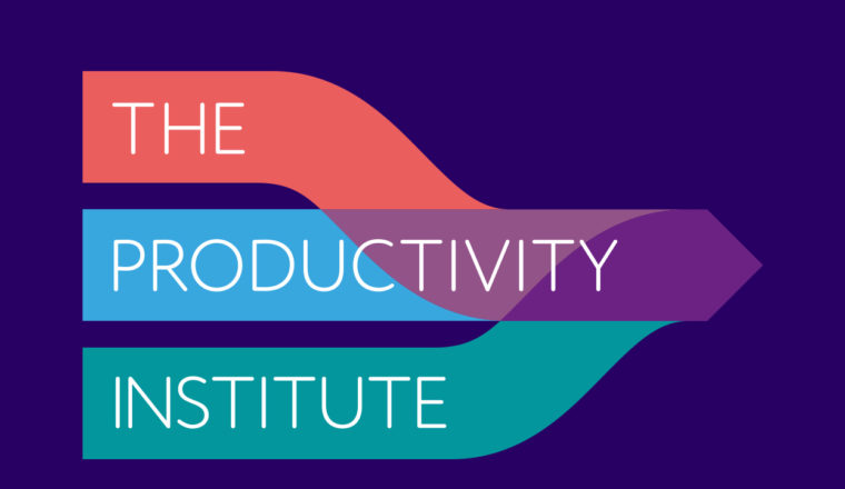 The Productivity Institute logo on navy background