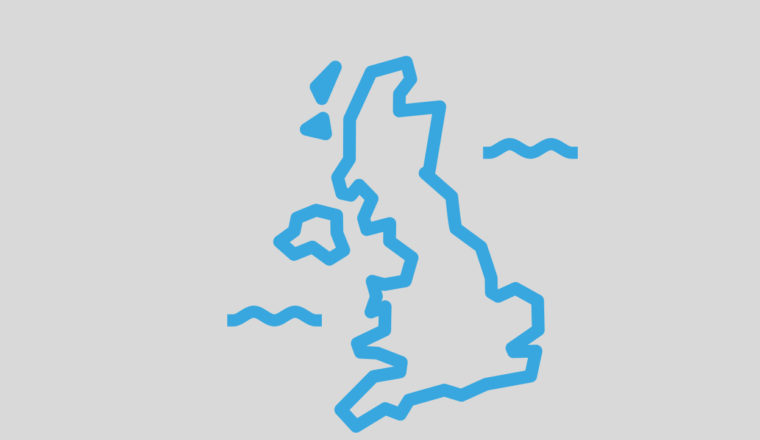 Vector image of a map of the UK