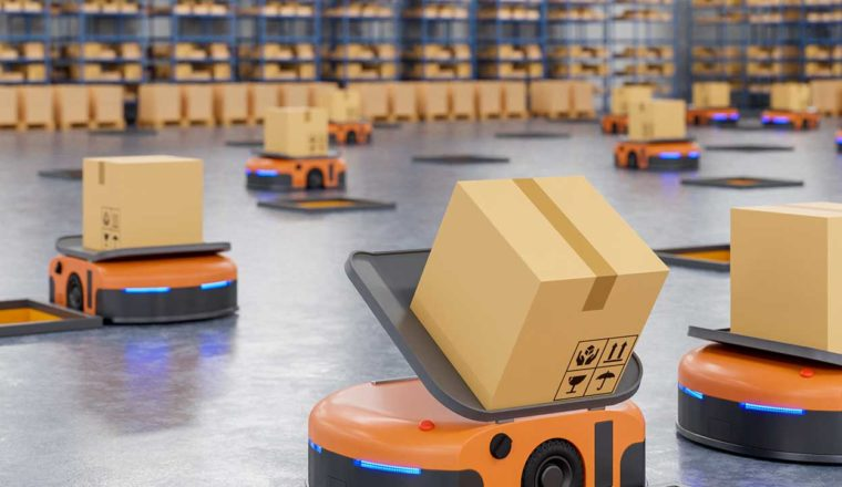 Machines in a warehouse