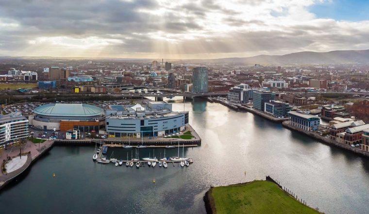 View of Belfast harbour